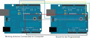 Linking two Arduino together to copy bootloader